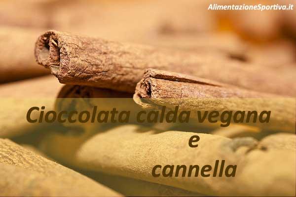 Cioccolata calda vegana con cannella