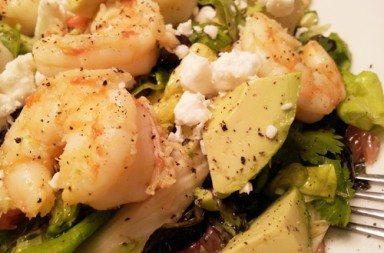insalata di gamberetti con avocado e finocchi