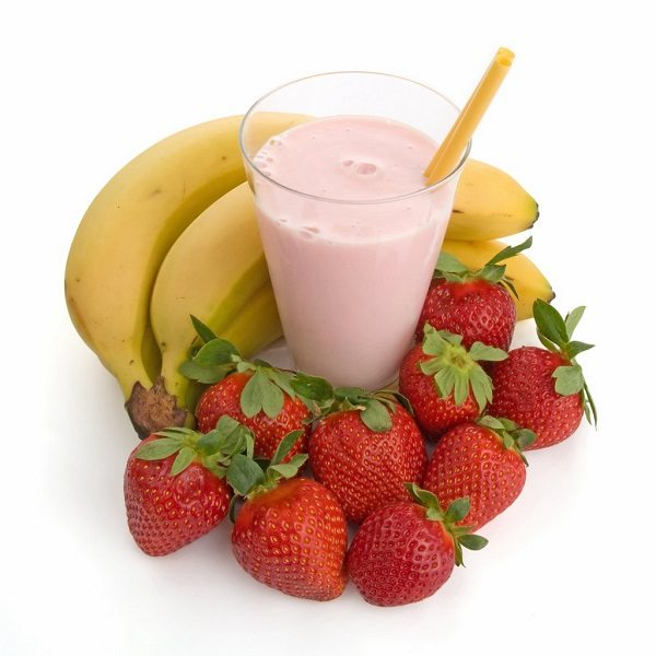 smoothie banana e fragole