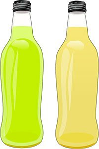 Bottiglie di bibite gasate