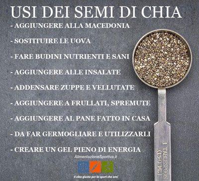 Usi dei semi di chia