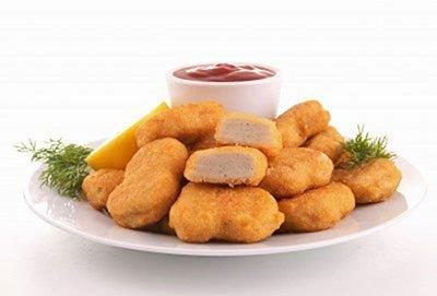 crocchette di pollo con ketchup