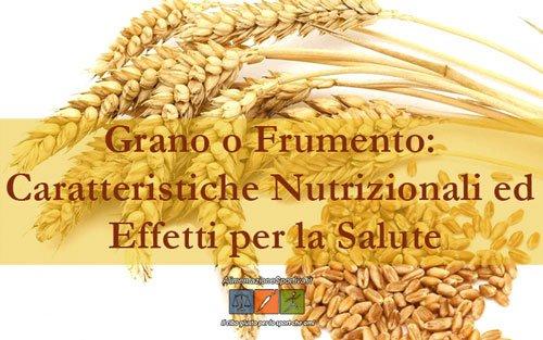 Grano o Frumento: Valori Nutrizionali e Proprietà