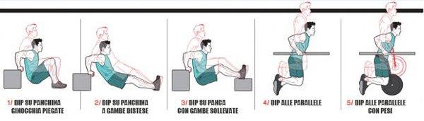 Dip esercizi vari
